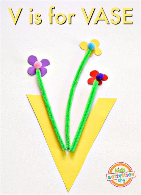 v craft site about children v is for vase letter v craft