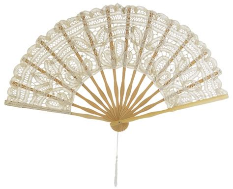 hand fans for wedding 11 quot beige ivory chinese folding lace hand fan for