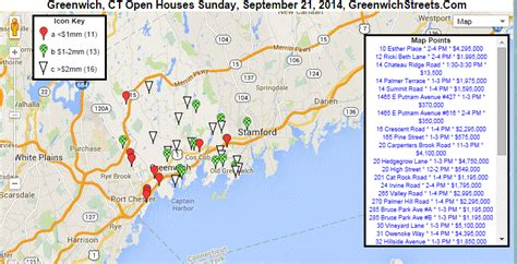 open houses  greenwich  sunday sept