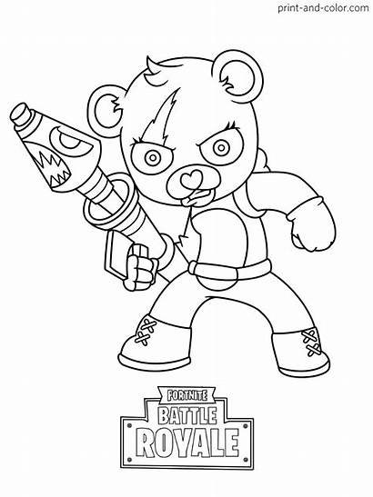 Fortnite Coloring Pages Raider Rabbit Colouring Printable