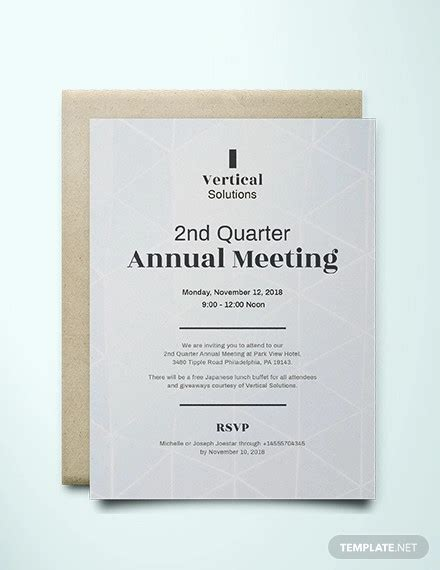 official meeting invitation designs  examples psd