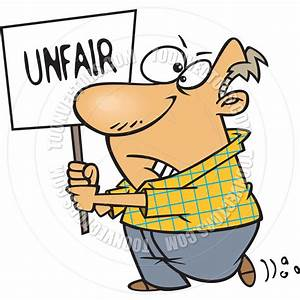 Cartoon Man Protesting Unfairness by Ron Leishman | Toon ...