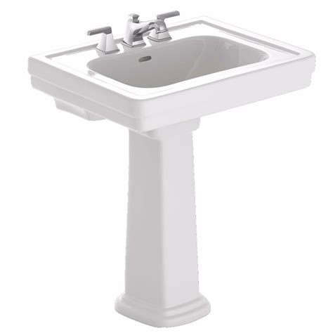 toto promenade 28 in pedestal combo bathroom sink with 8