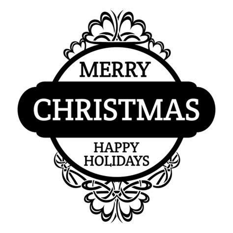 merry christmas round badge transparent png svg vector