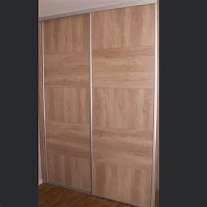 Prix Placard Sur Mesure : porte de placard coulissante bois ~ Premium-room.com Idées de Décoration