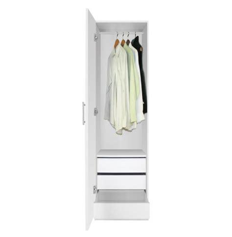 alta narrow wardrobe closet left door 3 interior drawers