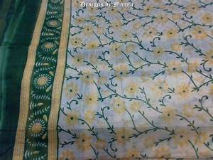 Daisy Flower Print Sari Fabric By The Yard - Unique Fabrics