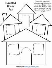 printable house templates bing images haunted house