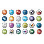 Social Icon Icons Many Identify Pack Glossy