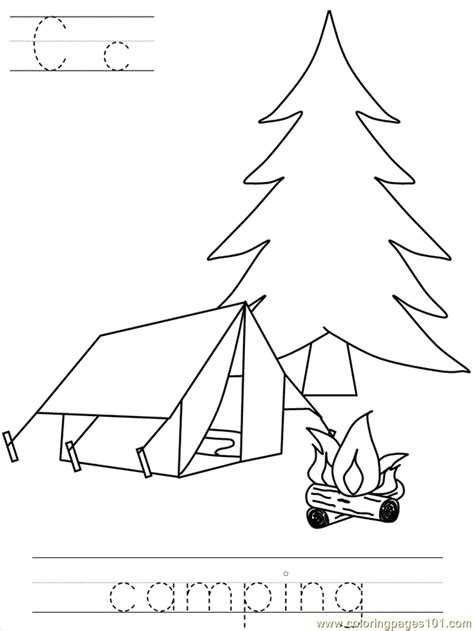 preschool camping coloring pages coloring home 673 | gceo5bMcd