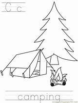 Camping Coloring Preschool Printable Toddlers Pdf Colouring Others Camper Coloringpages101 Coloringhome Scout Popular sketch template