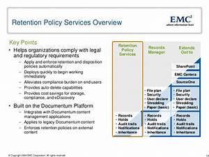 fundamentals emc records and retention management With document management retention policy