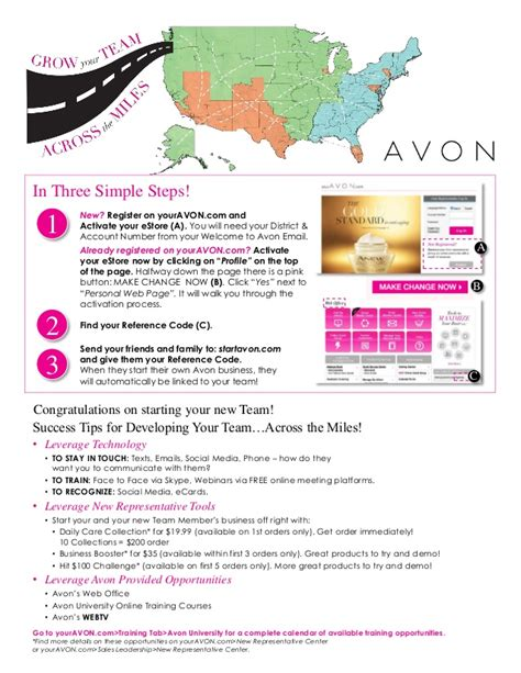 how to sign up your avon team member