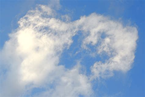 Blue Sky with Wispy White Clouds Picture | Free Photograph ...