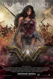 Gal Gadot Wonder Woman Movie Poster By Bryanzap All