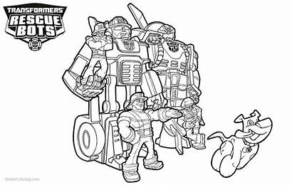 Rescue Coloring Bots Transformers Characters Colouring Bot