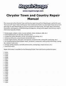 Chrysler Town And Country Repair Manual 1990