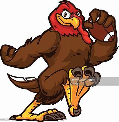 Turkey Football Eagle Running Mascot Vector Run