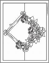 Coloring Pages Flower Bouquet Rustic Flowers Roses Pdf Wreath Garland Colorwithfuzzy sketch template