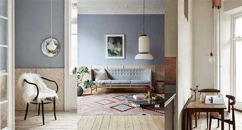 scandinavian interior  raw surfaces  light blue walls
