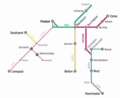 Metro Map Train Route Subway Elr Conceptdraw