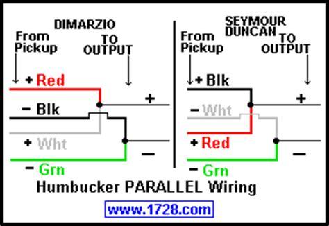dimarzio model  series  parallel wiring talkbasscom