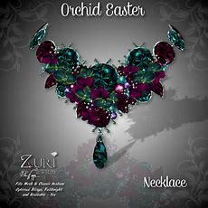 New Easter Countdown Sale Zuri's  Orchid Necklace  Easter  Zuri Rayna Jewelry And Jewels Isle