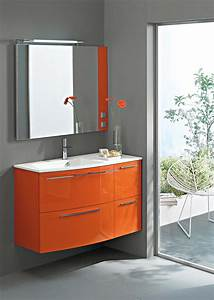 meuble salle de bain orange With meuble orange