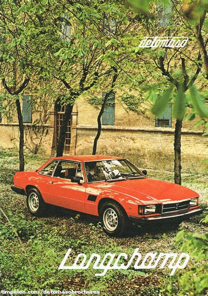Scans of De Tomaso Longchamp brochure (1980b1) - timpelen.com