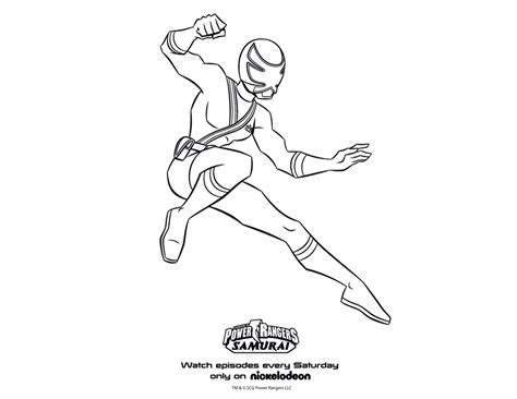 red power rangers coloring pages   print
