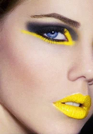 chrome yellow  daring eye makeup