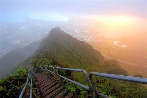 The Illegal Haiku Stairs Aka Stairway To Heaven In Hawaii