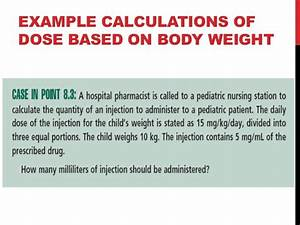 Bsa Weight Chart Calculations Of Doses