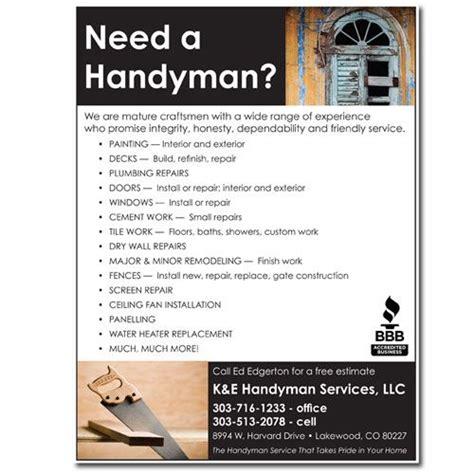 Home Design Business Ideas by Flyer Handyman 171 Design Studio Llc Graphic Design