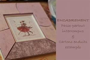 Passe Partout Encadrement : encadrement passe partout en carton enduit atelier cadrat ~ Melissatoandfro.com Idées de Décoration