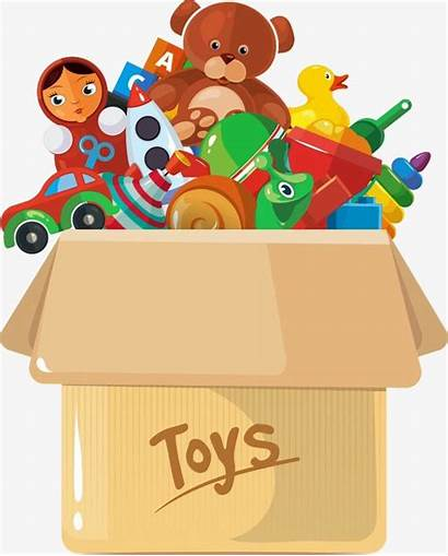 Vector Box Toys Background Illustration Clipart Toy