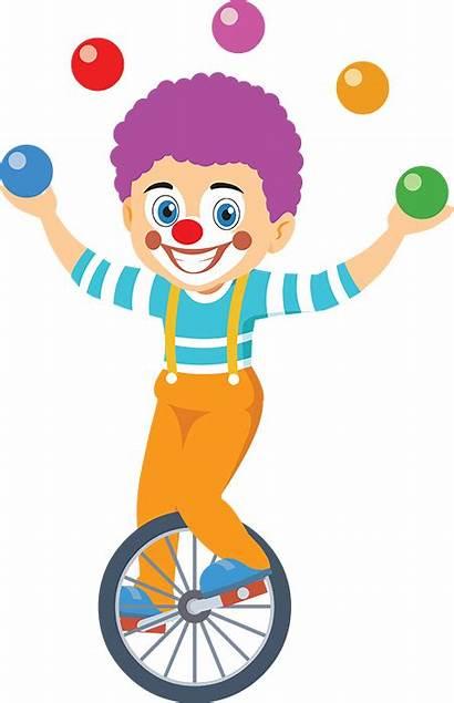 Circus Clown Clipart Unicycle Riding Clip Transparent