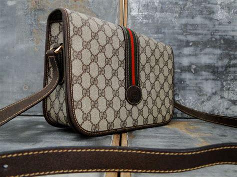 gucci vintage brown gg monogram crossbody bag