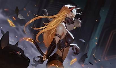 Cat Demon Blonde Destruction Wallhere Wallpapers