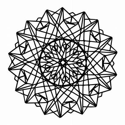 Mandala Geometric Coloring Pages Designs Mandalas Modern