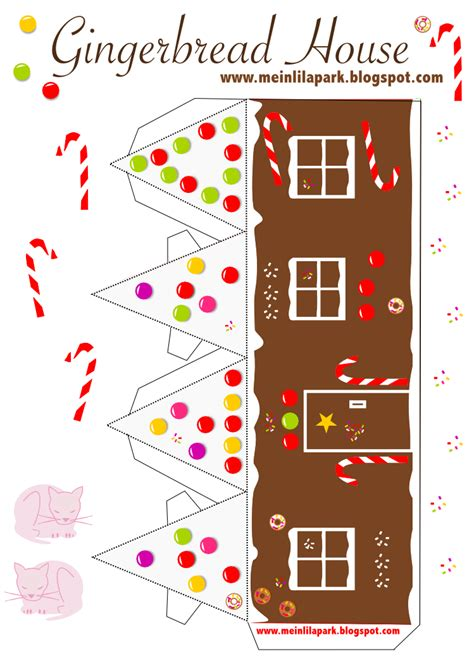 printable paper houses  christmas freebie