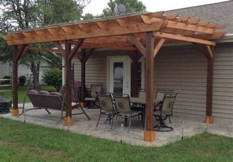 covered pergola plans   patio wood design covered deck diy