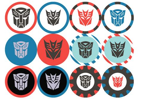 Transformer Cupcake Topper Template by Transformers Birthday Party Printables By Anna Lee Design
