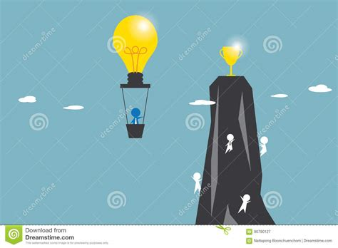 See more ideas about svg animation, animation, svg. Businessman In Light Bulb Balloon Flying To Get Golden ...