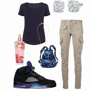 U0026quot;Basic outfit for schoolu0026quot; by imjussbeinme on Polyvore Cheap Jordan 5 Retro Grape only $56 save ...
