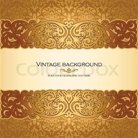 vintage background antike viktorianisch goldener