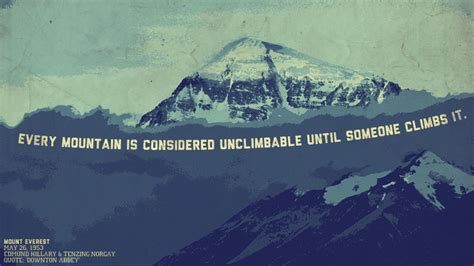 monday motivation  unclimbable mountain wallpaper