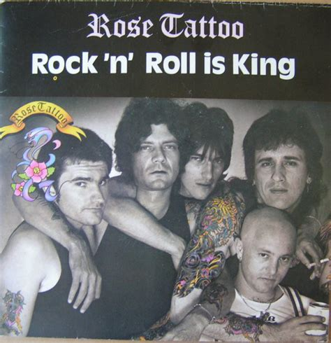 rose tattoo rock  roll  king vinyl  single