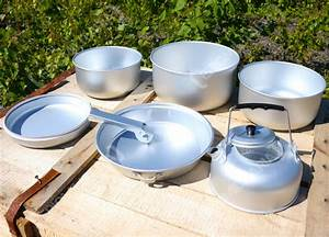 5pc, Portable, Camping, Cook, Set, And, Kettle, Lightweight
