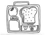 Coloring Pages Colouring Lunchbox Healthy Lunch Box Printables Sheets Template sketch template